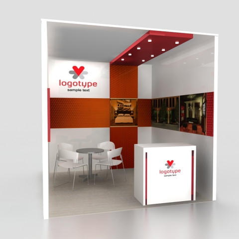 In-line stand 10 x 10